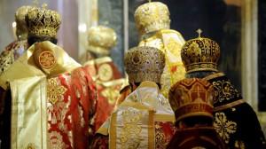 Болгарські архієреї повернулися спинами до Всеправославного собору. Фото offnews.bg