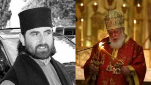 Отець Георгій Мамаладзе і патріарх Ілля ІІ. Фото kavkazplus.com